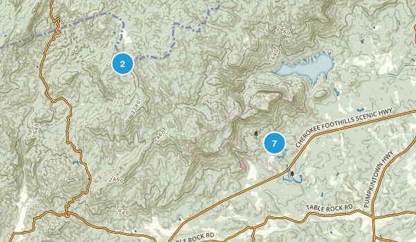 Table Rock State Park Map