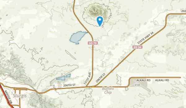Bear Butte State Park Map