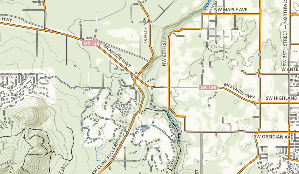 Cline Falls State Scenic Viewpoint Map