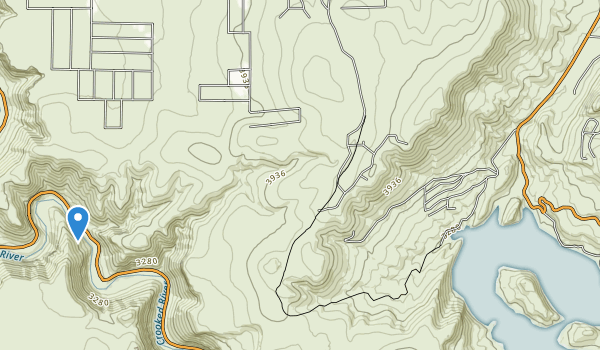 trail locations for Prineville Reservoir State Park