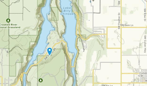 El Parque Estatal Cove Palisades Map