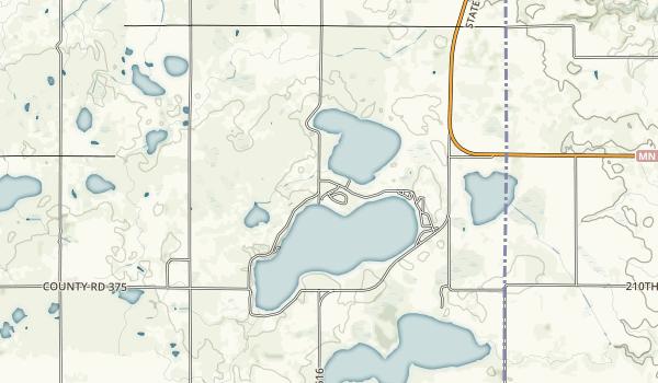 Lake Cochrane Recreation Area Map