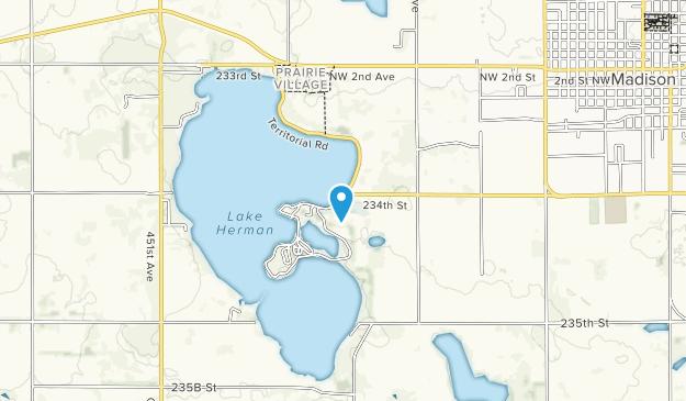 Lake Herman State Park Map