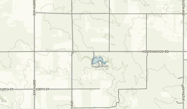 Lake Hiddenwood Recreation Area Map