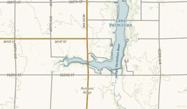 Lake Vermillion Recreation Area Map