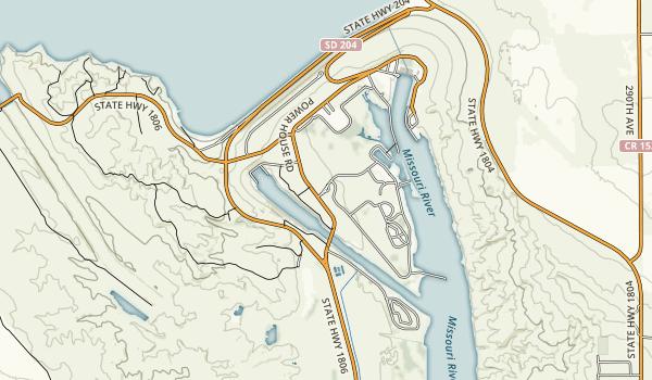 Oahe Downstream Recreation Area Map