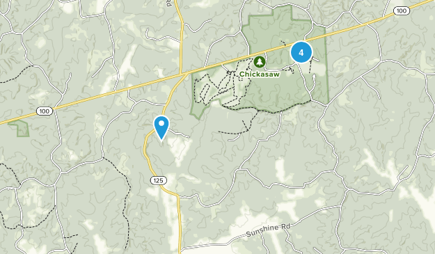 Chickasaw State Park Map