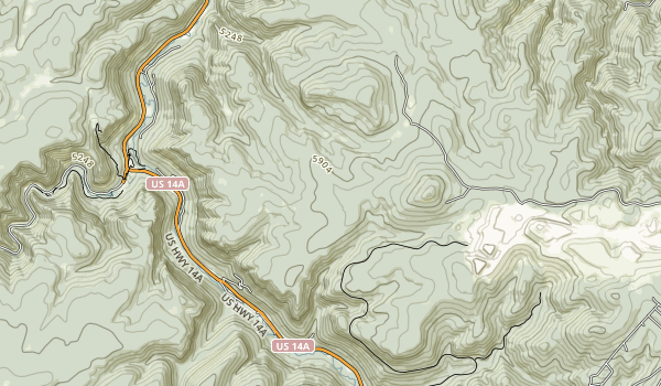 Roughlock Falls Nature Area Map