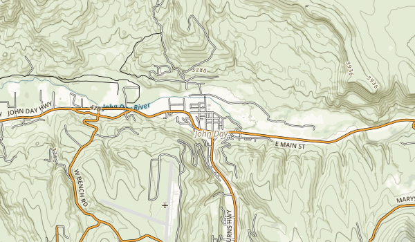Kam Wah Chung State Heritage Site Map