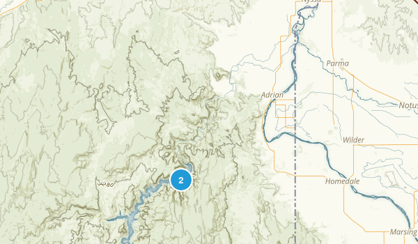 Lake Owyhee State Park Map