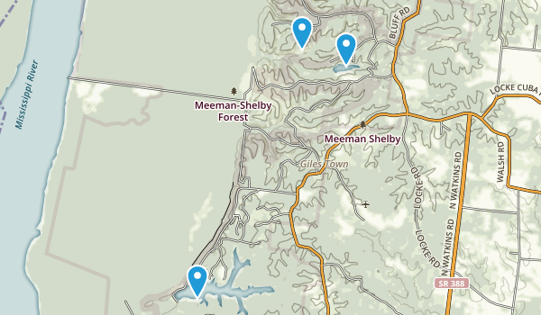 Meeman-Shelby Forest State Park Map