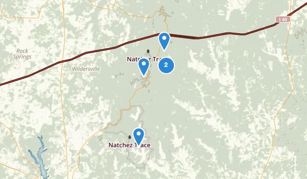 Natchez Trace State Park Map