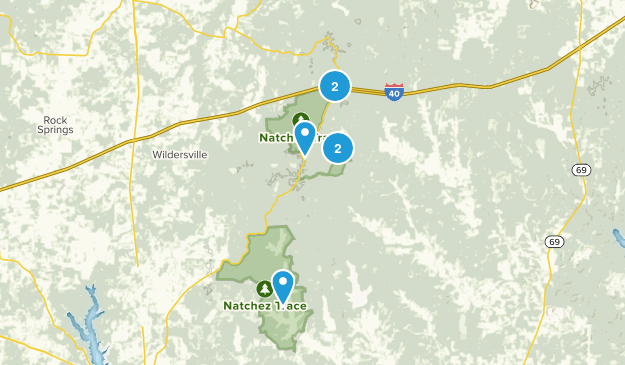 Natchez Trace State Park Map