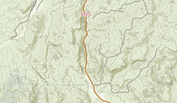 Unity Forest State Scenic Corridor Map