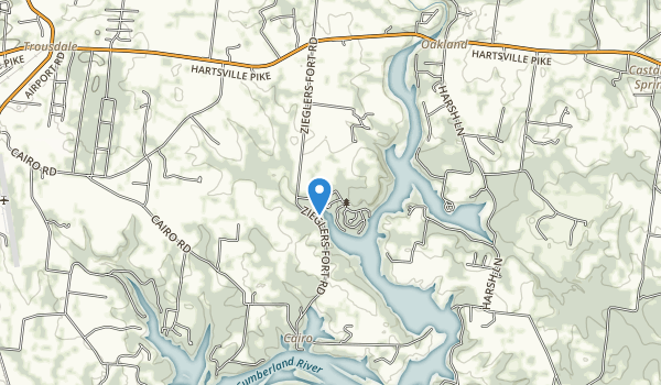 trail locations for Bledsoe Creek State Park
