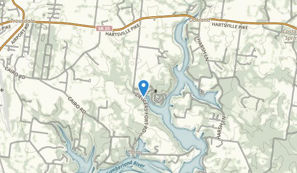 Bledsoe Creek State Park Map