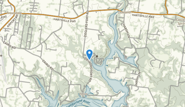 Bledsoe Creek State Park Map