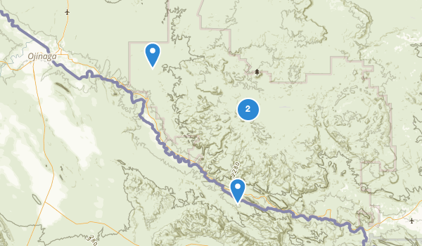 trail locations for Big Bend Ranch State Park