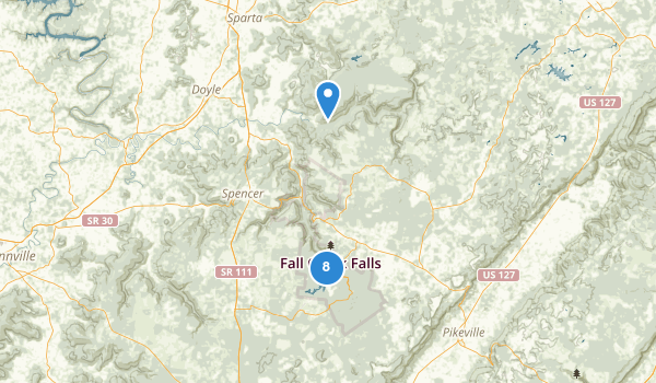 trail locations for Fall Creek Falls State Park