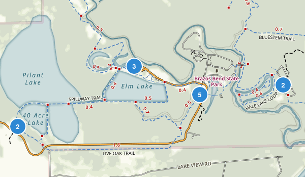 Brazos Bend State Park Map