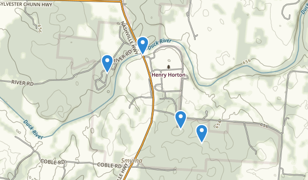 trail locations for Henry Horton State Park