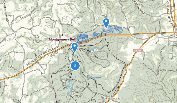 Montgomery Bell State Park Map