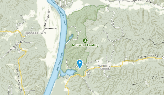 Parque Estatal de Mousetail Landing Map