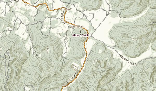 Sgt. Alvin C. York Historic Park Map