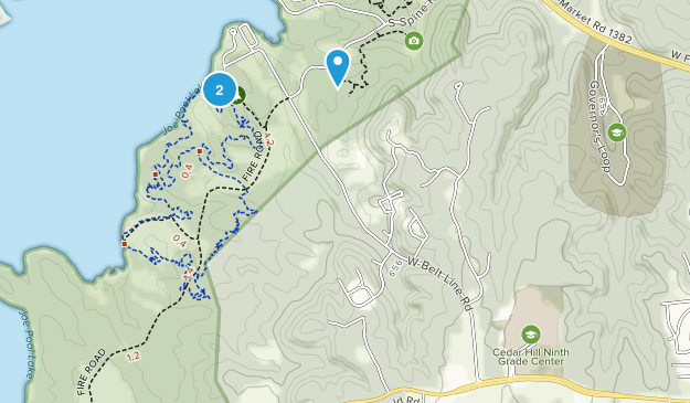 Cedar Hill State Park Map