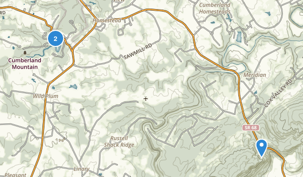 Cumberland Mountain State Park Map