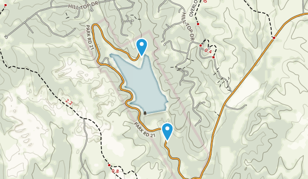Cleburne State Park Map