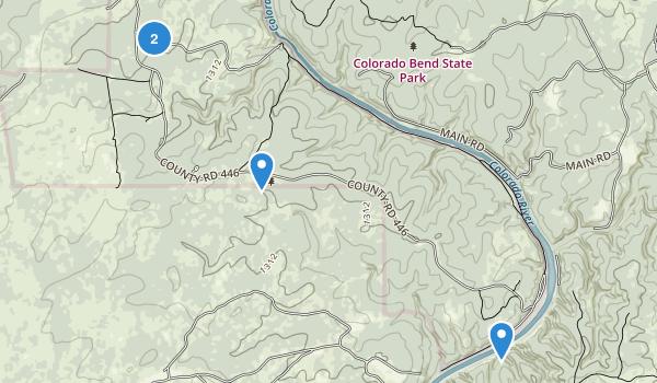 Colorado Bend State Park Map