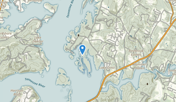 trail locations for Harrison Bay State Park