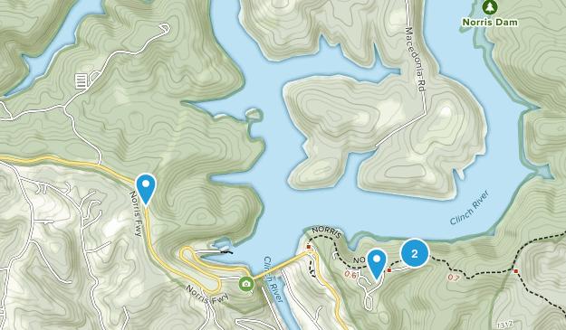 Norris Dam State Park Map