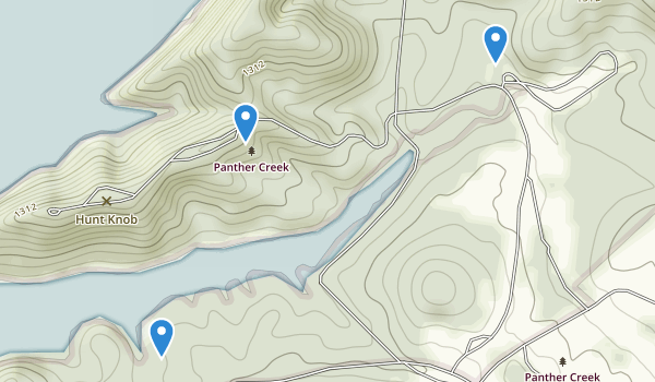 trail locations for Panther Creek State Park