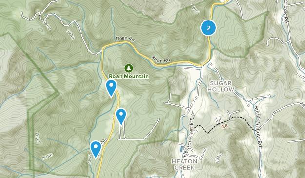 Parque Estatal Roan Mountain Map