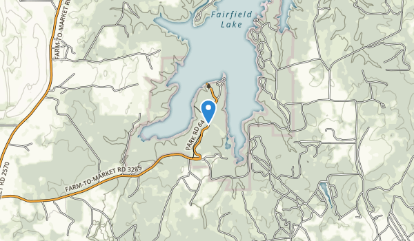 Fairfield Lake State Park Map