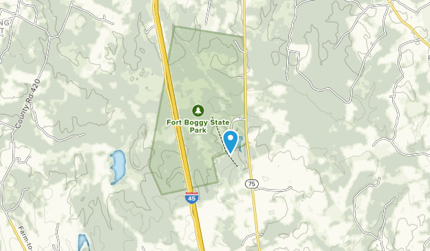 Fort Boggy State Park Map
