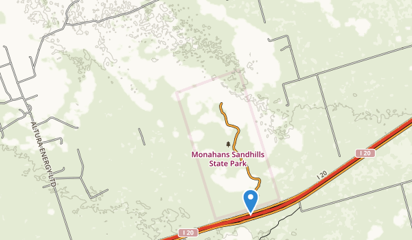 trail locations for Monahans Sandhills State Park