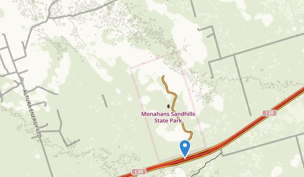 Monahans Sandhills State Park Map