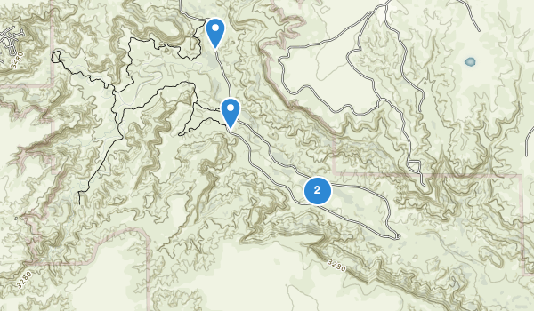 trail locations for Palo Duro Canyon State Park