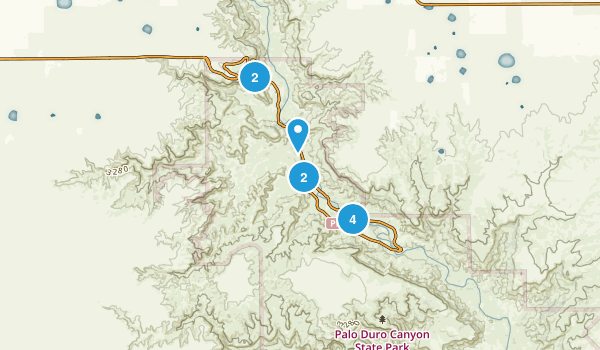 Palo Duro Canyon State Park Map