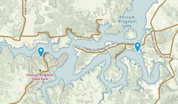 Possum Kingdom State Park Map