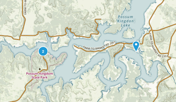 Possum Kingdom State Park Map