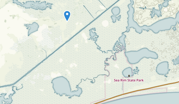 trail locations for Sea Rim State Park
