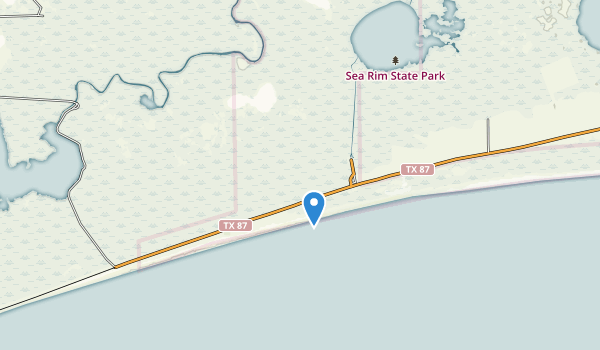 Sea Rim State Park Map