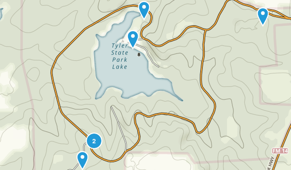 Tyler State Park Map
