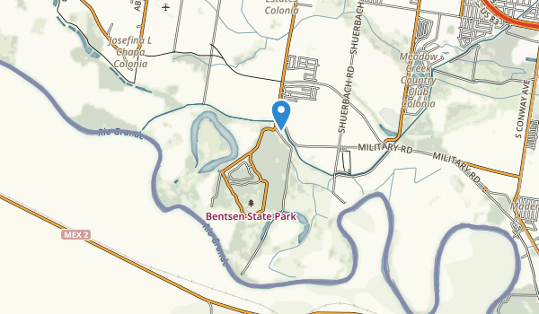 trail locations for Bentsen-Rio Grande Valley State Park