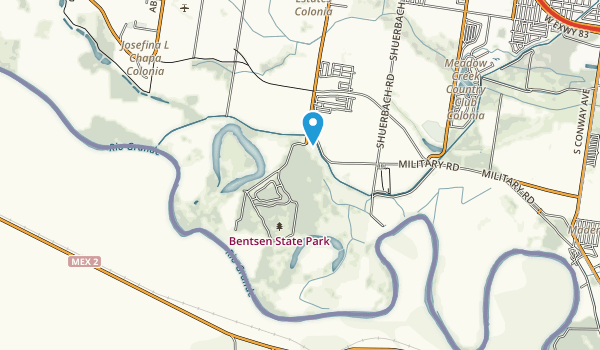 Bentsen-Rio Grande Valley State Park Map