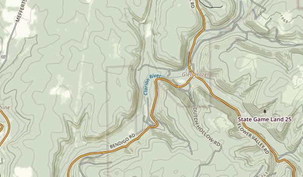 Bendigo State Park Map